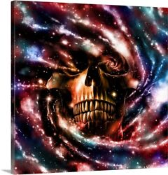 Space Skull Ii Canvas Art Print