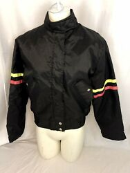 Vintage WHEELS OF MAN Women's Nylon Motorcycle Jacket ~ M ~ Union Made in USA