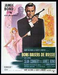 From Russia With Love James Bond Sean Connery 1980s French 47x63 Linenbacked