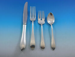 Pointed Antique By Randb Dandh Sterling Silver Flatware Set For 8 Service 32 Pcs