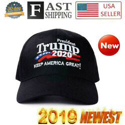 Donald Trump 2020 Hat Keep Make America Great Again Embroidered Cap Black KAG BE