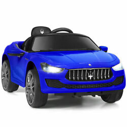 12V Maserati Licensed Kids Ride on Car w RC Remote Control Blue Christmas Gifts