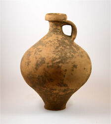 Roman A Large Brown Pottery Clay Vessel