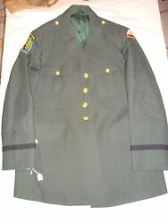 Airborne Dress Uniform Military Bendone Cosplay Army Green 434 1976 Dated
