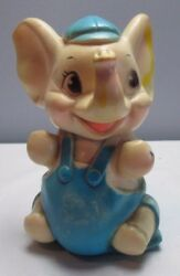 Vintage 1960's Sanitoy Elephant Squeak Toy - Rubber - Works Great 8 Inches Tall