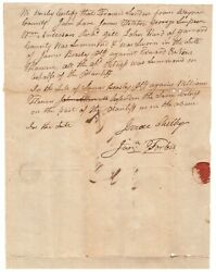 Isaac Shelby Document Signed - Revolutionary War Leader And 1st Kentucky Governor