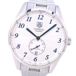 Tag Heuer Carrera Heritage Calibre 6 Mens Watch Automatic Was2111 Silver 39mm