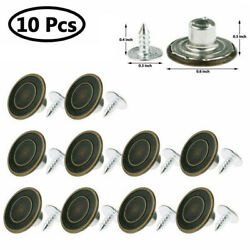 10X Metal Buttons Screw Nails Suspenders Replacement Instant Clothes Jeans Pants $5.75