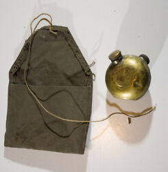 Yugoslavian Army Wwii Oil Tin And Cloth Bag For Rifle Mauser Cleaning