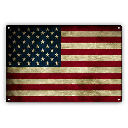 United States Country Flag Usa Vintage Look Decor Novelty Aluminum Metal Sign