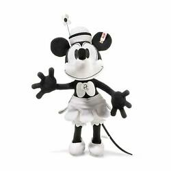 New Steiff Disney Steamboat Willie - Minnie Mouse Limited Edition From Japan F/s