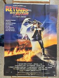 """Back To The Future,mega Rare French Extra Large 61,5"""" X 46"""" 1985 Poster"""