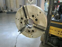 18 3-jaw Cushman Power Chuck 12590-18-a11c A11 Spindle Mount Acme Master Jaws
