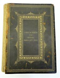 Antique Pre-civil War 1855 Hc Peck Theo Bliss Copper Plate Print Holy Bible Book