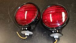 NOS PAIR RED YANKEE LAMPS NO. 920 CP311