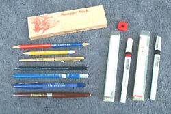 Lot Vintage Writing Instruments Pens Pencils Swagger Stick Rot Ring Technical Zh