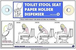TOILET STOOL SEAT PAPER HOLDER DISPENSE For Lavatory Patent Licensing or Buy!
