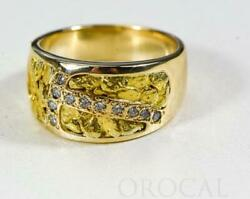 Gold Nugget Ladies Ring Orocal Rl1114d22n Genuine Hand Crafted Jewelry - 14k C