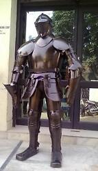 Medieval Full Suit Of Armor Collectible Armor Costume Eatched Breast Plate