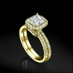 SIDE STONES SI2 D DIAMOND HALO RING 2.55 CARAT WOMEN COLORLESS 14K YELLOW GOLD