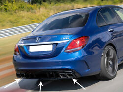 Mercedes Amg C63 S Facelift Rear Diffuser And Tailpipes Saloon Limo Estate