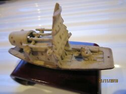 Chinese Clay Mud Man In Boat Ornament - 2 X 3 No.2_
