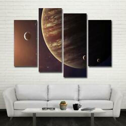 Planet Jupiter And Moons Framed 4 Piece Space Canvas Wall Art Painting Wallpaper D