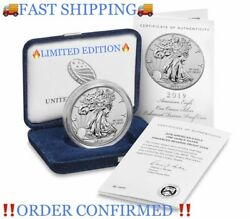 🔥collectibles🔥american Eagle 2019 One Ounce Silver Enhanced Reverse Proof Coin
