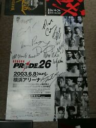 Pride 26 B2 Signed Poster - Mma Ufc