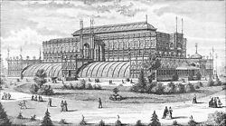 NEW-YORK - HORTICULTURAL BUILDING (Centennial Exposition 1876)- Engraving 19th