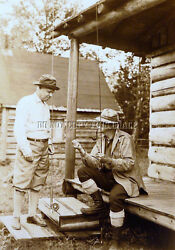 Antique Reproduction 8 X 10 Photograph Trout Fly Fishing Rod Reels