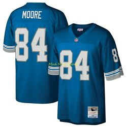 Herman Moore Detroit Lions Blue Mitchell And Ness Legacy Throwback Jersey Sz S-2xl