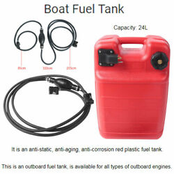 Portable Boat Fuel Tank 24l 6.3 Gallon Marine Outboard Fuel Tank With Connector
