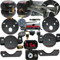 B Chassistech Tow Kit Chevy Gmc 1500 1999-2006 Compressor, Manual Valve And Horn