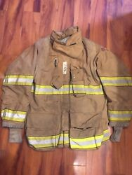 Firefighter Globe Turnout Bunker Coat 46x32 G-xtreme 2007 No Cut Out