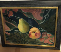 Fruit 22 X 18 Oil Painting 1943-august Mosca