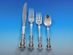 Michelangelo By Oneida Sterling Silver Flatware Set For 12 Service 50 Pieces