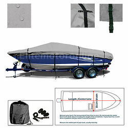 Premium Trailerable I/o Deckboat Deck Boat Cover Fits 23and039 - 24.5and039 L