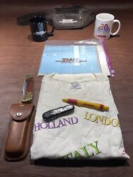 Dhl World Map And 2 Mugsdhl Pocket Schrade Lb7knife T-shirt Leather Fanny Pack