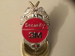 3m Company Security Guard Badge Obsolete Vintage