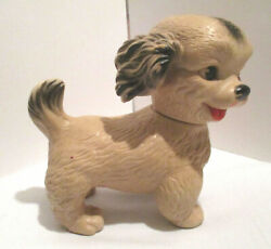Vintage Ashland Rubber Products Co. Tan Rubber Squeaky Puppy