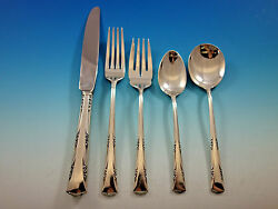 Greenbrier By Gorham Sterling Silver Flatware Set For 8 Service 40 Pieces