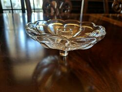 Heisey Candle Insert Candy Dish Signed Panels Fluted Scalloped 5 3/8 Diameter