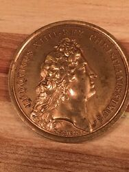 Rare 1969 Bronze Medal Ludovicus Xiiii Rex Christianissimus By J. Mauger 1667