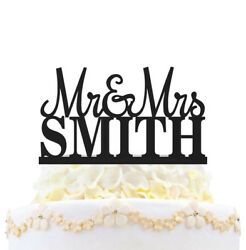 Mr And Mrs Wedding Cake Topper Personalized With Last Name Love Party Decoration