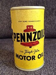 Vintage Pennzoil Motor Oil Can Am Radio Rare Works Advertising Piece Man Cave