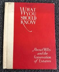 1921 Historic Detroit Mi Security Trust Company Book What You Should Know Wills