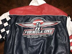 Vintage Inaugural Indy F1 Formula One Us Grand Prix Leather Coat Small Jh Design