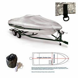 New V-hull Fishing Ski Storage Mooring Boat Cover Fits 20and039 -22.5and039l 108width
