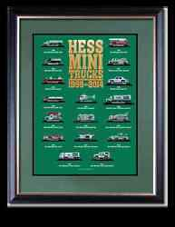 2014 Hess Mini Toy Truck Limited Edition Collectorand039s Poster Priority Shipping